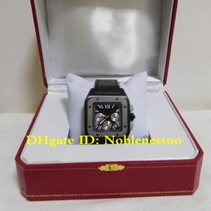 Hombres Hot 100 XL Negro cronógrafo de cuarzo reloj de acero W2020005 Negro Dial Chrono de casos de trabajo de pulsera relojes de los hombres del reloj