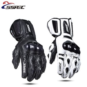 SSpec Moto Guanti di pelle in fibra di carbonio caldi guanti protettivi impermeabili guanti da corsa di motocross Equitazione Outdoor glvoes XXL