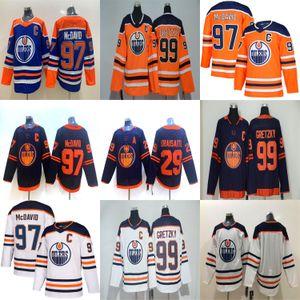 Edmonton Oilers Formalar 97 Connor McDavid 29 Leon Draisaitl 93 Ryan Nugent-Hopkins 99 Wayne Gretzky 18 James Neal Lacivert Hokeyi Formalar