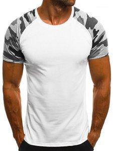 Manicotto Tees casuale contrasto Palestra Designer Tops secco sottile sottile Sport Mens magliette rapida estiva breve