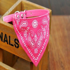 2016 4 Size Adjustable Dog Collar Puppy Cat Scarf Collar For Dogs Bandana Neckerchief Paisley Pattern Pet Accessories 4 Size Adjustable uy20