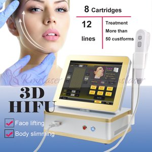 8 cartridges portable 3d hifu machine home use beauty equipment High Intensity Focused Ultrasound hifu wrinkle removal anti aging face lift