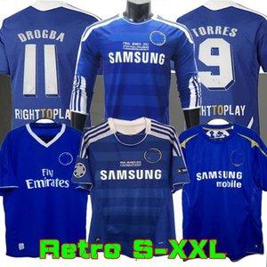 2011 Camicie Retro maglia da calcio Lampard Torres Drogba 11 12 finale Terry David Luiz MATA calcio Camiseta Crespo Hasselbaink 03 05 06 2004