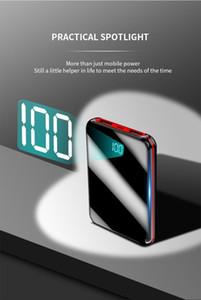 Mini banco 30000mAh para el iPhone 8 X Xiaomi Mi Pover el Powerbank cargador del banco de 2 puertos USB externos Poverbank portátil de la batería