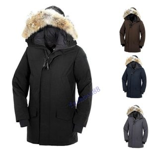 2019 d'hiver Fourrure vers le bas Homme Parka Jassen Chaquetas Big-vêtement en fourrure à capuchon Fourrure Manteau Canada Down Jacket Manteau Doudoune Hiver