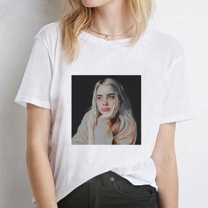 Pullover Tshirts Fashion Women Tees Billie Eilish Casual Designer Tshirts Women Summer Printed Short Sleeved Crew Neck