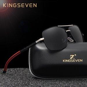 Kingseven Brand Designer uomo in alluminio magnesio occhiali da sole specchio polarizzato lente maschile occhiali da sole per uomo Gafas Y19052004