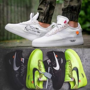 nike air force 1 1s ow off white offwhite AF1 one shoes Sneakers New Women Shoes