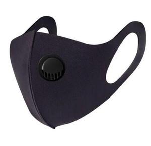 Ice Silk Gesichtsmaske mit Atemventil Waschbar Ventil Wiederverwendbare Anti-Staub PM2.5 Schutzmasken schwarz Recycle Designer Masken GGA3303 Maske