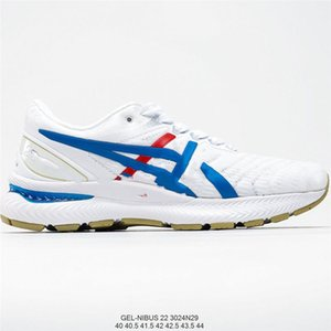 ASICS GEL-NIMBUS 22 Homens das sapatas das mulheres Running Shoes Black Red White instrutor Sports Cushion superfície respirável Sports Shoes 36-44