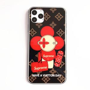 Cas de téléphone de luxe pour iPhone 11 / 11Pro / 11Pro MAX Designer Back Cover Mode IPhone avec la marque Sun Flower 2 Styles de gros