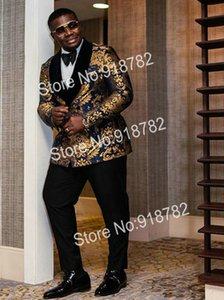 Custom-made Shawl Lapel Groomsmen Double-Breasted Groom Tuxedos Men Suits Wedding Prom Dinner Best Man Blazer(Jacket+Pants) W79