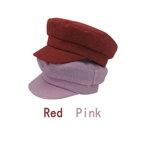 Newsboy Hats Student Cap Linen Light Board Solid Linen Unisex Dome Fitted Available in Seven Colors