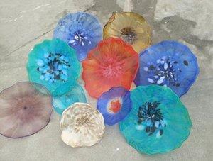 Moderne Handgemachte geblasenem Glas Abstract Wall Lighting-Blumen-Entwurf mundgeblasenem Glas Wandleuchten Multi Color hängend Teller Wand-Deko