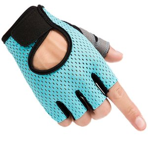 Sports half finger fitness gloves Outdoor Knitted bicycle riding gloves Four Color Drop Shhipping