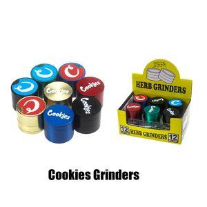 Las cookies SF California aleación de zinc Grinder 4 capas 40 * 35mm Grinder Humo de Tabaco Vape amoladoras accesorios de fumar Con Embalaje Caja