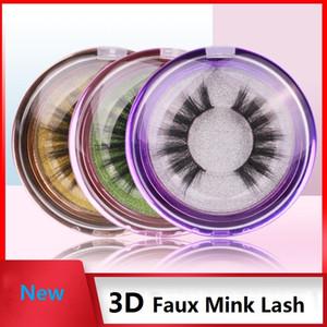 가짜 밍크 속눈썹 3D 밍크 속눈썹 100 % 학대 무료 속눈썹 수제 재사용 자연 속눈썹 다채로운 상자와 거짓 눈썹