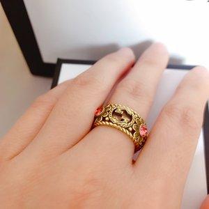 Последние Luxury Special Design Ring Top Brass Ring Ring Регулируемый размер женщин ювелирных изделий способа питания