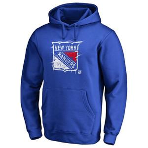 New York Rangers Erkek Giyim Kapşonlu Sweatshirt Erkek Tasarımcı Kapüşonlular Kapüşonlular Kazak Tişörtü Baskılı Hokeyi Jersey Coat
