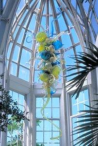 100% Mundgeblasen CE UL Borosilikat Murano Glas Dale Chihuly Art Stilvolle Mattglas-Pendelleuchte Shade