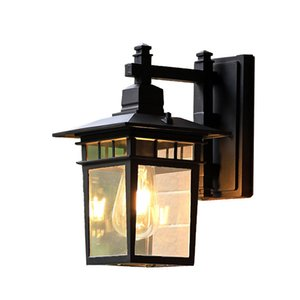 Vintage Outdoor Led Wall Lamp Waterproof Hotel Decoration Indoor Black E27 Industrial Wall Lights applique murale luminaire RW273