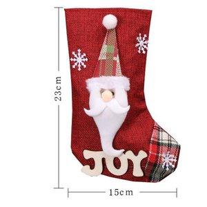 23 * 15cm Sacos do presente Meia do Natal ornamento da neve de Natal para Crianças Saco dos doces Meias Ano Novo Prop Meias Xmas Decoração GGA2800