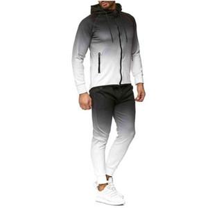 2ST Herren Sportswear Sportswear Zip Hoodie + Hosen Laufen Jogging Freizeit Fitness Fitness Workout Sports Set Sports Set