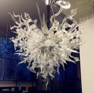 Arte barato Clear Chandelier Prismas Chihuly estilo de muebles para la sala Decoración Murano Glass Art iluminación pendiente