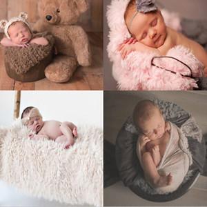 Çocuklar Fotoğraf Dikmeler Fotoğrafçılığı'na Faux Kürk Süper Yumuşak Battaniyeler Uyku Wrap Bebek 2020 Yeni Çekim 100 Gün Blanket