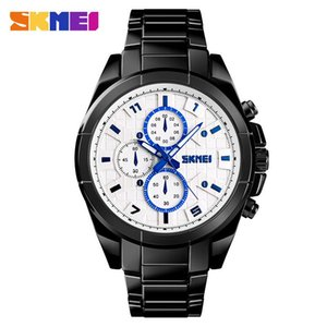 New Business Style Men Watch Waterproof Sport Quartz Wristwatch Stainless Steel Wristband Folding Clasp with Safety 1378