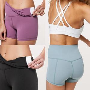 2020 top designer Lululemon Lulu lu yoga limone shorts 32 016 25 78 donne di sport allenamento senza soluzione di continuità Rosa camo yogaworld set sedd80#