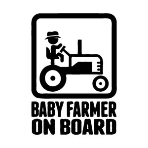 10.1CM*14CM BABY FARMER ON BOARD Vinyl Car Sticker Decal Cute And Interesting Fashion Sticker Decals Car Accessories