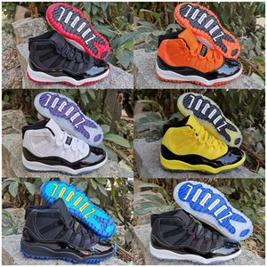 2020 New Baby Kids 11 11s Shoes Bred Concord Space Pink Gym Red Blue 11 Shoes Sneakers Gift For Boys