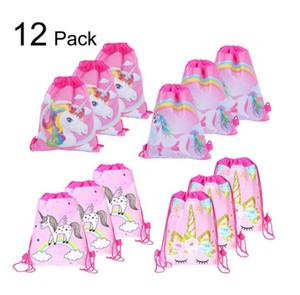Venta al por mayor del unicornio con asas de las muchachas del recorrido del almacenaje del paquete de dibujos animados mochilas escolares favores de bolsos de lujo del diseñador monederos BY0788