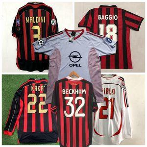 Retro-Klassiker 1991 1992 1996 2005 2002 03 2006 2007 INZAGHI PIRLO MALDINI KAKA SHEVCHENKO AC 09/10 Retro Fußball-Hemd Jerseys Mailand Fußball
