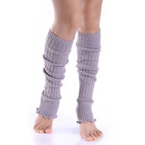 Newly 1pair Fashion Leg Warmers Woman Long Stockings Popular Hemp Flowers Knitting Step Foot Winter Warm Stocking CLA88