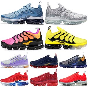 Nike Air Vapormax TN Plus Bumblebee Olympic TN Plus Calzado para correr Trabajo Blue Grape Sunset Game Royal USA Hombres Mujeres Zapatillas deportivas 36-45 Venta al por mayor de Drop Ship