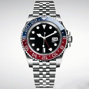 regarder 2020 nouveaux hommes Wristwatch Basel rouge bleu en alliage d'affaires Montres Mouvement mécanique automatique Mens Watch