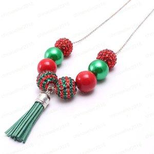 مجوهرات عيد الميلاد سلسلة طويلة قلادة اليدوية الطفل مكتنزة الزاهي الخرز قلادة الشرابة قلادة دروبشيب