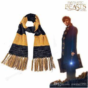Фантастические звери и где их найти Newt Scamander Зимний шарф с бахромой Косплей Аксессуары
