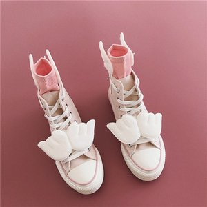 Sapatos criativo Canvas Anime Card Captor Sakura Vulcanize com rosa de pano Sneakers Mulheres Meninas Ala dos desenhos animados bonito alta Tops sapatos