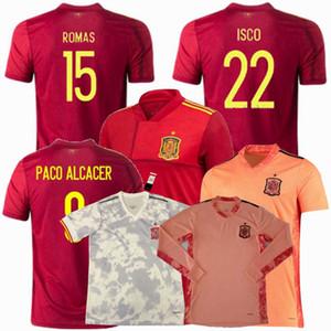 20 21 maillot de football Espagne DE GEA PACO ALCACER CITP SERGIO RAMOS PIQUE KOKE A.INIESTA 2020 2021 hommes de football les femmes et les enfants garçons chemise 4XL