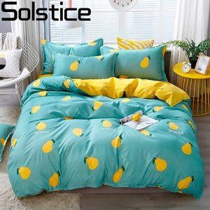 Imposta Boy Girl Bambini Comforter Bedding Solstice Cartoon neve Pera Letto per bambini Rivestimenti Copripiumino lenzuolo federa