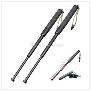 Outdoor-Survival-Gadget Trekking Pole Tactical Notfall Notwehr brechend Windows-63CM Kunststoff PC Protective Teleskop Rejection-Stick