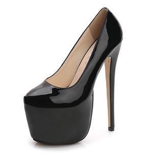 MAIERNISI Sexy Prom Mulheres Bombas oito centímetros Plataforma modelo de passarela Womens Shoes 18cm Fino Salto Feminino sapatos de salto alto tamanho grande 35-44 Y200702