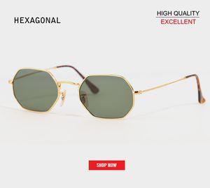 Venda Por Atacado moda retro flat lens 3556 óculos de sol quadrado do vintage hexagonal designer de óculos de sol dos homens uv400 clássico espelho reflexivo óculos de sol