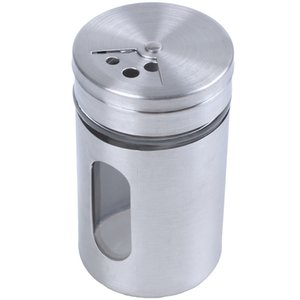 New Stainless Steel Flour Sifter Cup Baking Sugar Salt Pepper Herb Shaker Jar Toothpick Storage Bottle