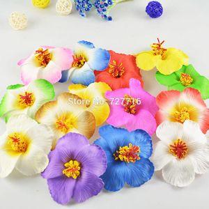 8-9cm Гавайи PE Плюмерия Тропический Frangipani цветок гибискуса цветок DIY головной убор 20pcs / lot