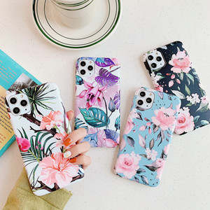 Luxury Fashion Rose Floral Flower Plantain IMD Soft TPU Stylish Case For iPhone 11 Pro Max XR XS X 8 7 6 6S Plus