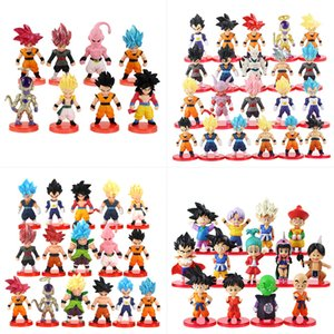 8-13-16-21pcs / Set Dragon Ball Super Freezer Son Goku Trunks Beerus azione PVC Figure Anime Dragon Ball Z Figurine Toy Model